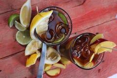 Thé de chaux de citron Photographie stock