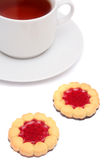 thé de cuvette de biscuits Photographie stock libre de droits