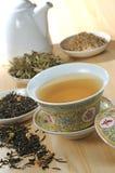 thé de fines herbes Images libres de droits
