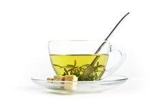 thé de fines herbes de cuvette Photographie stock libre de droits