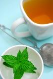 Thé de fines herbes de menthe poivrée Photo stock