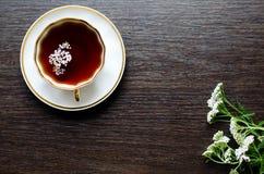 Thé de fines herbes naturel organique aromatique de millefeuille Photographie stock libre de droits