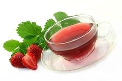 Thé de fraise Photo libre de droits