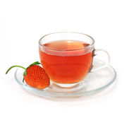 Thé de fraise Photos libres de droits