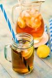 Thé de glace de citron Photographie stock libre de droits