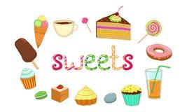 Thé de glace de gâteau de bonbons Photos stock