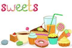 Thé de glace de gâteau de bonbons Images libres de droits