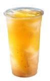 Thé de glace de prune avec la gelée image libre de droits