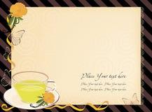 thé de l'invitation o de l'horloge cinq Photos stock