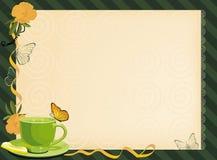 thé de l'invitation o de l'horloge cinq Images stock