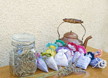 Thé de lavande et de sauge Photographie stock libre de droits