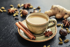 Thé de Masala Chai photographie stock