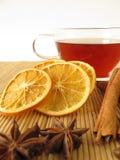 Thé de Rooibos avec des épices Photographie stock libre de droits