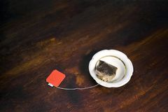 thé de sac utilisé photos libres de droits