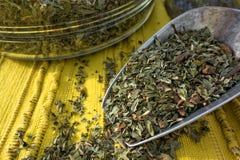 Thé en bon état de fines herbes Photo stock