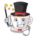 Thé en bon état de magicien dans une tasse de bande dessinée illustration de vecteur