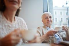 Thé en café Photo libre de droits