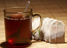 Thé en verre Photo stock
