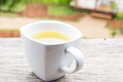 thé en verre de cuvette Photo stock