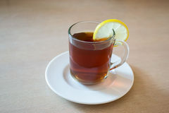 thé en verre de cuvette Photos stock