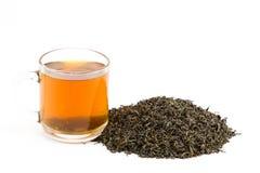 Thé en verre de tasse Photo stock