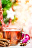 Thé et épices de Noël Photos stock