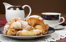 Thé et biscuits images libres de droits