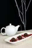 Thé et bonbons Image libre de droits