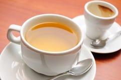 Thé et café Images libres de droits