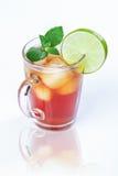 Thé et chaux glacés Photos stock