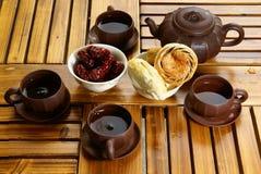 Thé et dessert photo libre de droits
