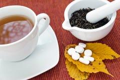 Thé et drogues Images stock