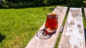 Thé et extérieur Photographie stock libre de droits