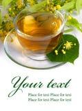 Thé et fleurs de tilleul Photo libre de droits