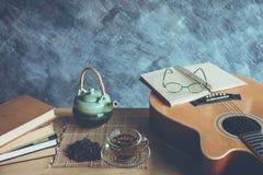 Thé et musique Photos libres de droits
