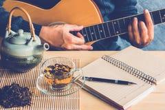 Thé et musique Images libres de droits