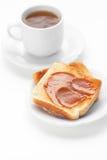 Thé et pain grillé photo libre de droits
