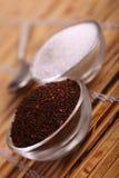 Thé et sucre Photographie stock