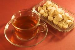 Thé et sucre Images stock