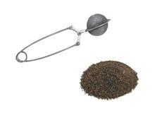 Thé et tamis de thé Images libres de droits