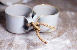 Thé et vie pour deux Photo stock