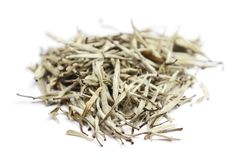 Thé - feuilles de thé blanches Photos stock
