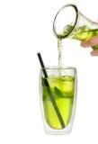 Thé glacé avec le citron Photographie stock