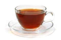 thé intérieur chaud en verre Photo libre de droits
