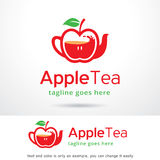 Thé Logo Template Design Vector d'Apple Photos libres de droits