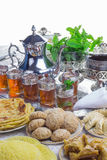 Thé marocain traditionnel Photo stock