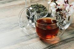 Thé noir dans une tasse Photographie stock