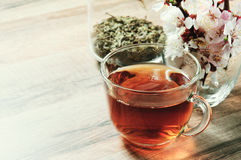 Thé noir dans une tasse Photographie stock libre de droits