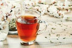 Thé noir dans une tasse Image stock
