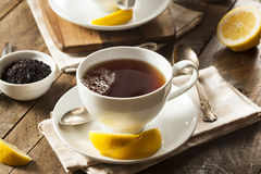 Thé noir organique chaud images stock